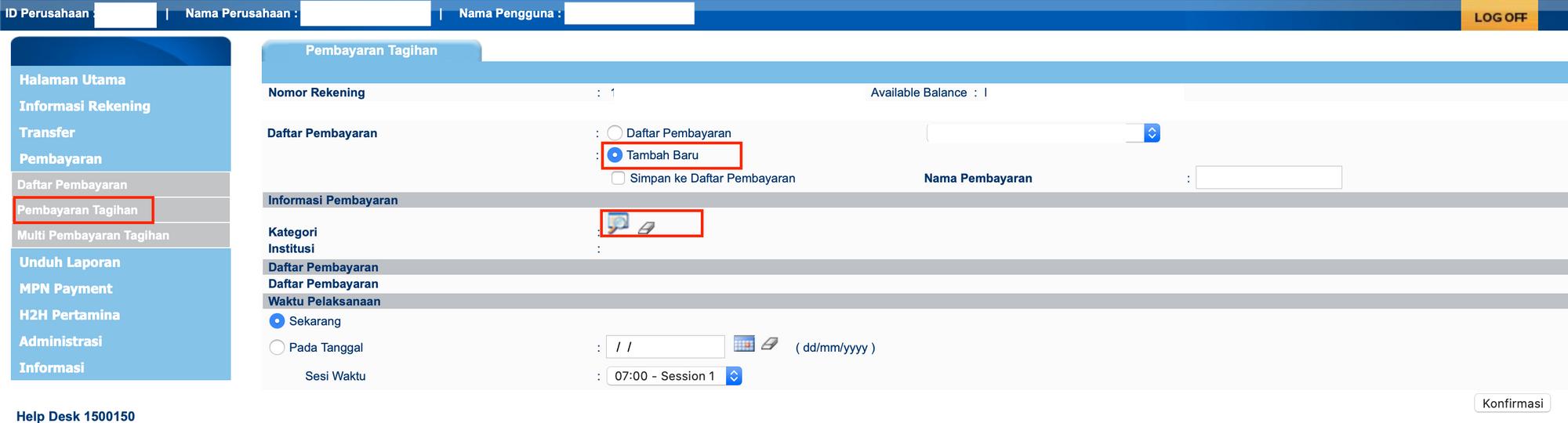 Cara transfer ke Virtual Account Bank Mandiri melalui ...