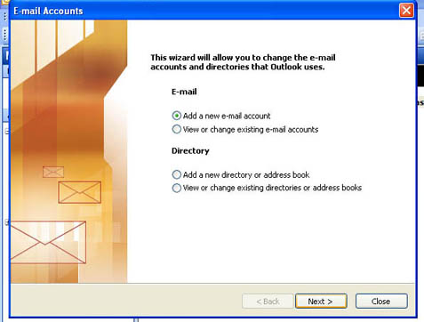 Outlook Authentication Setting