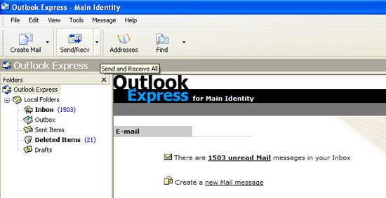 Coba lakukan send and receive email